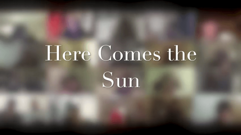 'Here Comes The Sun' virtual choir recording by isoChoir