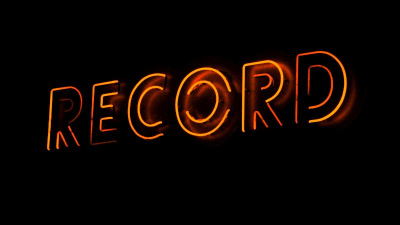 neon record lights