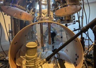 Recording drums in studio
