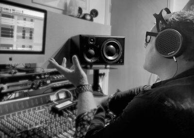 James Hawkins engineering recording session