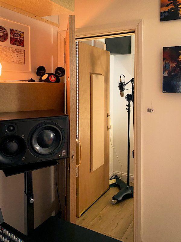 Recording studio isolation booth