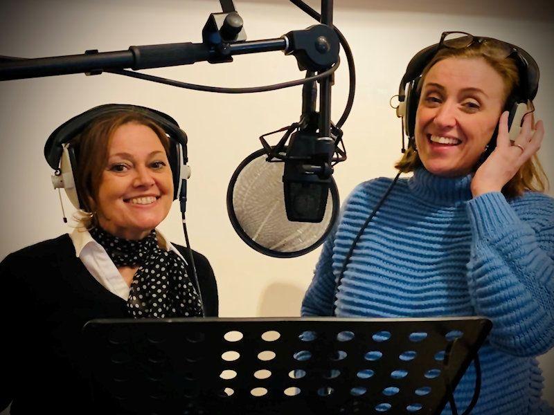 Singing Hands recording vocals