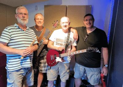 Blemish of Gravity band in recording studio