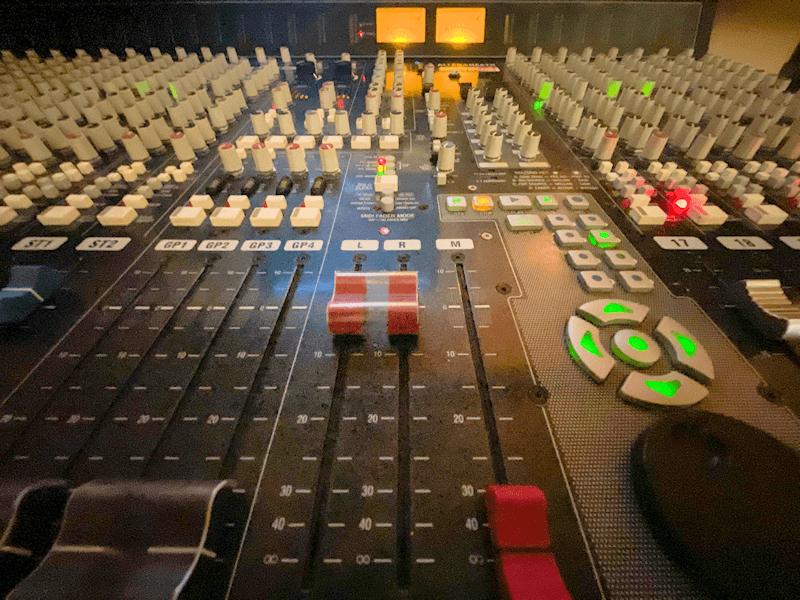 Control room mixing console