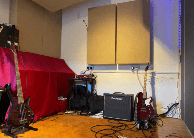 Studio recording band equipment